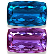 Color Change Fluorite Gemstones