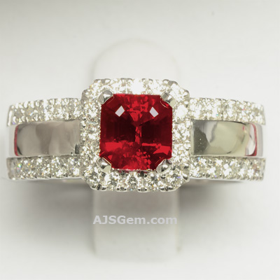 1.30 ct Burma Ruby Ring
