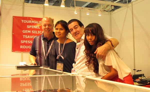 AJS Gems staff at Hong Kong Gem Fair 2012