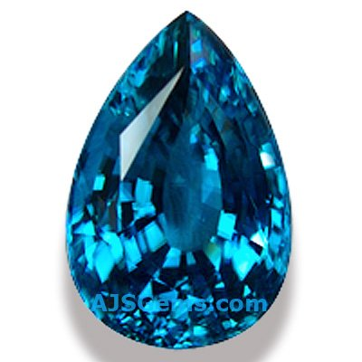 Blue Zircon Pear, Cambodia