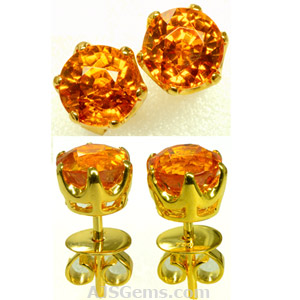 4.18 ct Spessartite Earrings