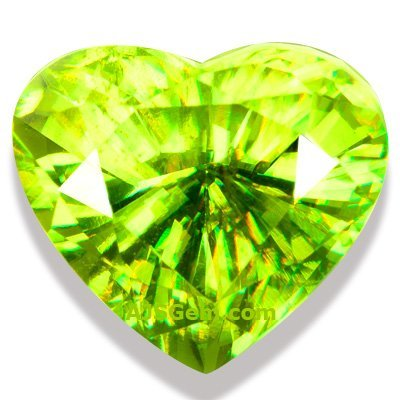 3.06 ct Sphene Heart, Madagascar