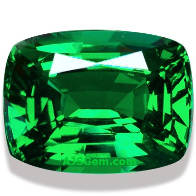 5.58 ct Tsavorite Garnet Cushion, Tanzania