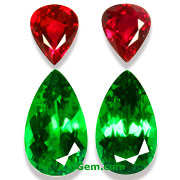 Tsavorite Garnet and Ruby Suite