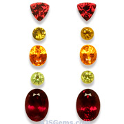 10.70 ct Spessartite, Rhodolite and Mali Garnet Set