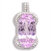 33.46 ct Kunzite Pendant in 18k White Gold