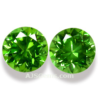 3.99 ct Demantoid Garnet Pair, Russia