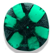 1.58 ct Trapiche Emerald, Colombia