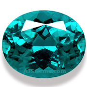 6.31 ct Blue Apatite from Madagascar