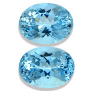 9.62 ct Aquamarine Matched Pair from Brazil