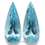 Aquamarine Matched Pair Brazil 8.28 cts