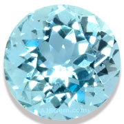 Natural Aquamarine Round