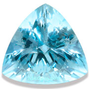Natural Aquamarine Trillion