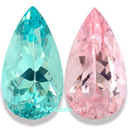 14.41 ct Aquamarine and Morganite Matched Pair from Brazil