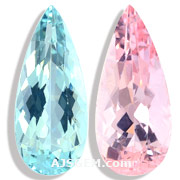 7.09 ct Aquamarine and Morganite Matched Pair from Brazil