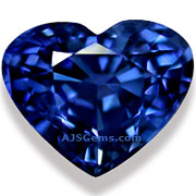 2.08 ct Blue Sapphire Heart from Madagascar