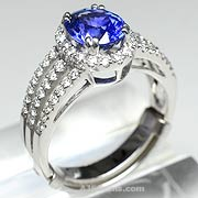 2.14 ct Blue Sapphire Ring