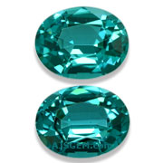 1.81 ct Vibrant Blue Tourmaline Matched Pair from Namibia