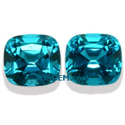 5.05 ct Blue Tourmaline Pair from Namibia