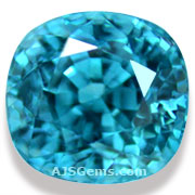 4.15 ct Blue Zircon from Cambodia