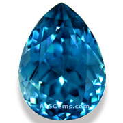 6.03 ct Blue Zircon, Cambodia