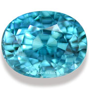 4.24 ct Blue Zircon from Cambodia