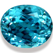 5.58 ct Blue Zircon, Cambodia