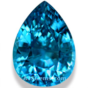 14.29 ct Blue Zircon from Cambodia