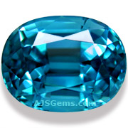 6.66 ct Blue Zircon, Cambodia