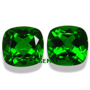 3.19 ct Chrome Diopside Matched Pair from Russia
