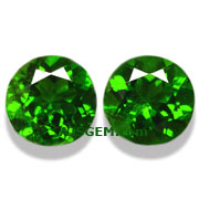 3.08 ct Chrome Diopside Matched Pair from Russia