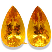 35.60 ct Madeira Citrine Matched Pair, Uruguay