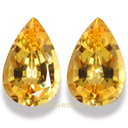 5.34 ct Imperial Topaz Matched Pair, Brazil