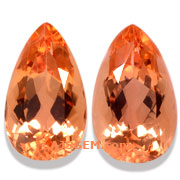 4.72 ct Imperial Topaz Matched Pair from Brazil