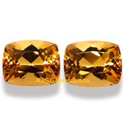 3.07 ct Imperial Topaz matched pair, Brazil