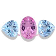 5.08 ct Pink Imperial Topaz and Aquamarine Suite
