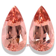 21.29 ct Morganite Matched Pair from Brazil