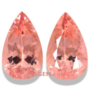 13.66 ct Morganite Matched Pair from Brazil