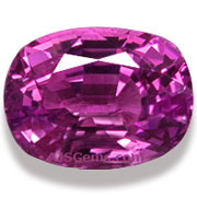 4.11 ct Purplish Pink Sapphire from Madagascar