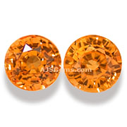 2.73 ct Spessartite Garnet Matched Pair from Nigeria