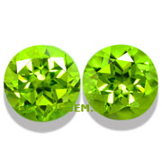 8.88 ct Peridot Matched Pair from Pakistan