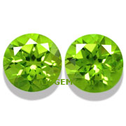 8.22 ct Peridot Matched Pair from Pakistan