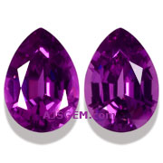 1.71 ct Matched Pair of Purple Garnets from Mozambique