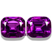 4.98 ct Matched Pair of Royal Purple Garnets from Mozambique