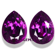 5.22 ct Royal Purple Garnet Matched Pair from Mozambique