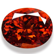 Orange-Red Zircon