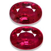 2.30 ct Matched Pair of Burma Rubies