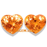 2.29 ct Spessartite Garnet Matched Pair from Nigeria
