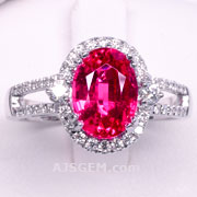 2.12 ct Mahenge Spinel Ring in 18k White Gold