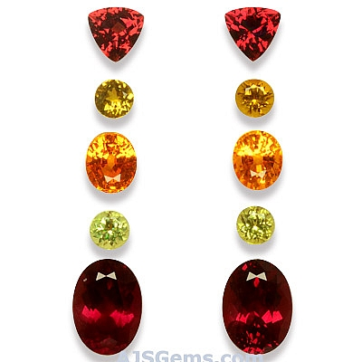 Spessartite - Rhodolite and Mali Garnet Set - 10.70 carats